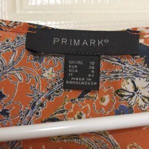 Primark Tops - Primark Orange Patterned Tank Blouse